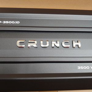 Car Amplifier : Brand New CRUNCH 3500 Watts 1 ohm monoblock Class D Built in Crossover 30a×2 fuses With Bass Control for Sale in Bell, CA