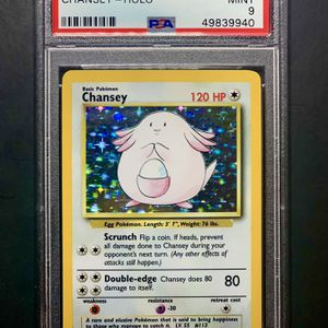 PSA 9 CHANSEY 1999 POKEMON GAME HOLO PARALLEL #3 COMPLETE MINT SET BREAK 3/102 for Sale in Virginia Beach, VA