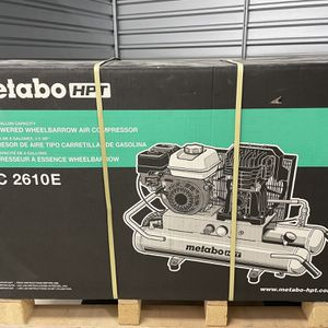 Metabo HPT (Hitachi Power Tools) 8-gallon Single Stage Portable Corded Gas Horizontal Air Compressor for Sale in Warminster, PA
