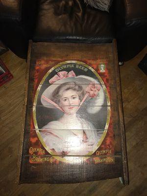 "Very rare vintage ""1910"" Olympia Beer wooden sign for Sale in Seattle, WA"