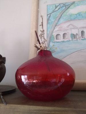 Red vase for Sale in Prineville, OR