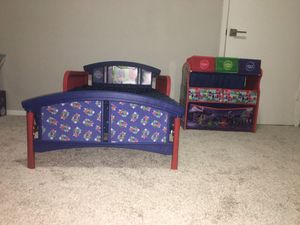 PJ Mask Themed bed set / Toy Chest for Sale in Pineville, NC