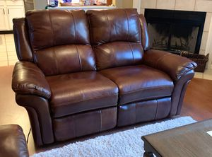 Power reclining love seat-leather for Sale in Lexington, KY