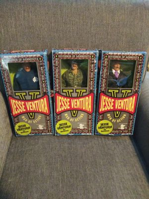 """3 Minnesota governor Jesse ventura man of action 18"""" collectable figures for Sale in Corona, CA"""