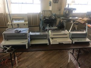 Various GBC binding machine / electric punch for Sale in Cleveland, OH