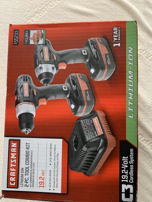 2 piece Lithium-Ion combo Drill Driver with Impact driver with 2 batteries and one charger. BRAND NEW in the box for Sale in Port Richey, FL