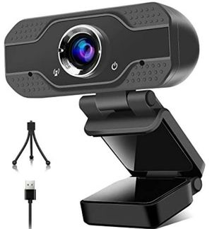 1080P Webcam with Microphone Web Camera for Computer,USB Webcam Video Camera for PC Laptop Plug and Play Streaming Web Cameras for Sale in Rancho Cucamonga, CA