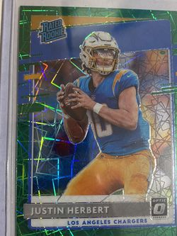 Justin Herbert GREEN VELOCITY OPTIC Rated Rookie #153 for Sale in East Los Angeles,  CA