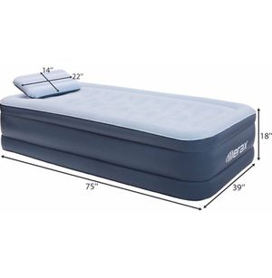 "Air Mattress Raised Elevated Double High Airbed, Inflatable Airbed with Internal Electric Pump & Pillow, Bed Height 18"", (Twin Size.) for Sale in El Monte, CA"