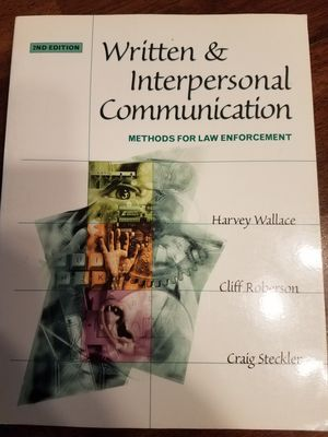 Written and Interpersonal Communication Methods for Law Enforcement for Sale in Buena Park, CA