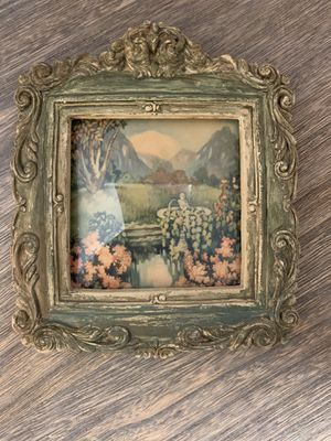 Antique beveled glass garden picture for Sale in Las Vegas, NV