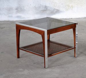 Gorgeous walnut mid century modern coffee table and end table for Sale in West Valley City, UT