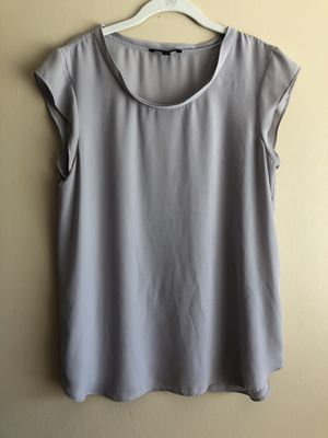 Banana Republic Womens Gray Short Sleeve Blouse Spring Career Sz Large for Sale in Fresno, CA