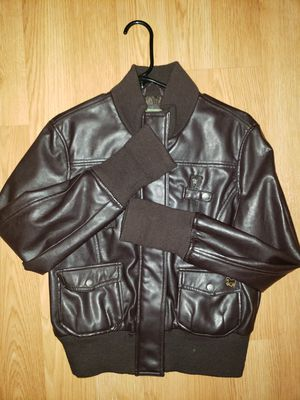 POLO pleather jacket - dark brown for Sale in San Diego, CA