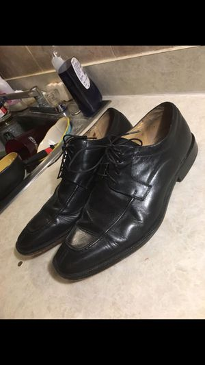 Bachrach Men's Black Leather Oxford Lace Up Bicycle Toe Dress Shoes Size 11.5 for Sale in Clearwater, FL