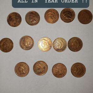 14 INDIAN HEAD PENNY YEAR All In ORDER Year 1895-1908 for Sale in Downers Grove, IL