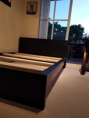 Bed frame and mattress. Needs assembly w/ screws and nuts. Hardware included and separated. Can provide instructions. for Sale in Palm Beach, FL