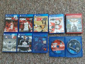9 ps4 games 1 ps3 for Sale in Aliquippa, PA