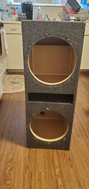 Dual 12 inch vented subwoofer box for Sale in Madison Heights, MI