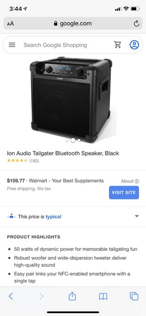 Ion Bluetooth speaker for Sale in Dallas, TX