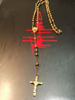 18k gold plated rosary for Sale in Houston, TX