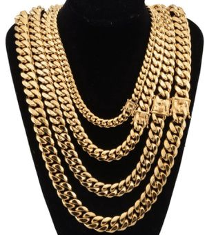 Gold Cuban Link Chains (Multiple Sizes Available) for Sale in The Bronx, NY