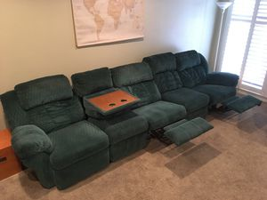 Sectional recliner couch for Sale in Hanford, CA