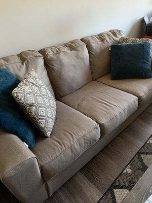 Two tan couches for Sale in Minneapolis, MN