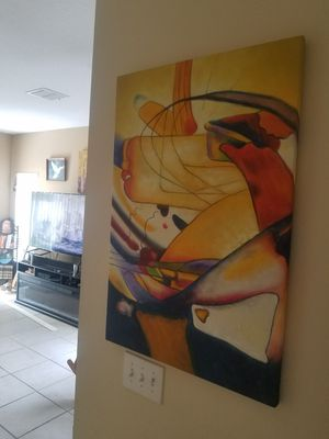 abstract canvas painting for Sale in Tampa, FL