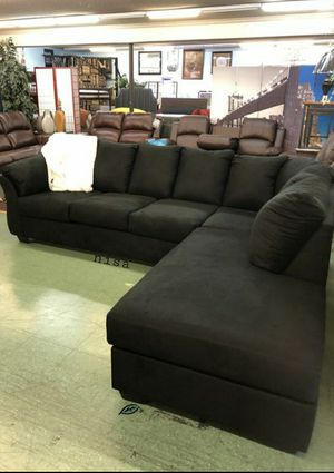 ⚓⚓Best OFFER ⚓ $39 Down Payment  SPECIAL] Darcy Black LAF Sectional SAME DAY DELIVERY for Sale in Jessup, MD
