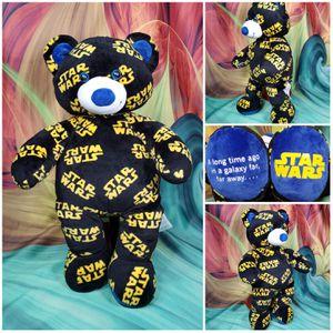 "Build A Bear Star Wars Logo Teddy 17"" Black Yellow & Blue 2016 BABW Plush Toy for Sale in Dale, TX"