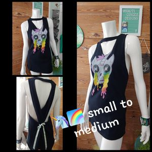 Unicorn skull custom cutoff mini dress for Sale in Key West, FL