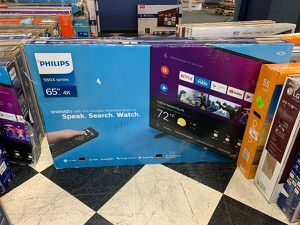 """NEW OPEN BOX PHILIPS 65"""" 4K tv RWIL for Sale in Anaheim, CA"""
