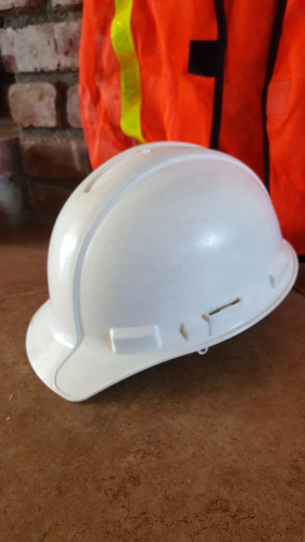 Safety hard hat and vest