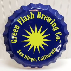 Green Flash Brewing Co Beer Tin Sign Man Cave Wall Hanging for Sale in Roseville, CA
