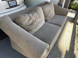 Grey cloth Sofa (Delivery included) for Sale in Beaverton, OR