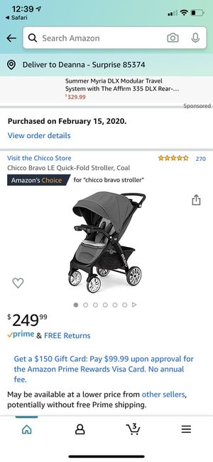 Chicco Bravo LE Quick Fold stroller for Sale in Surprise, AZ
