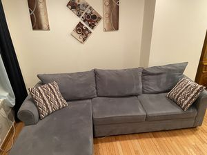 Like new sectional blue couch for Sale in Philadelphia, PA