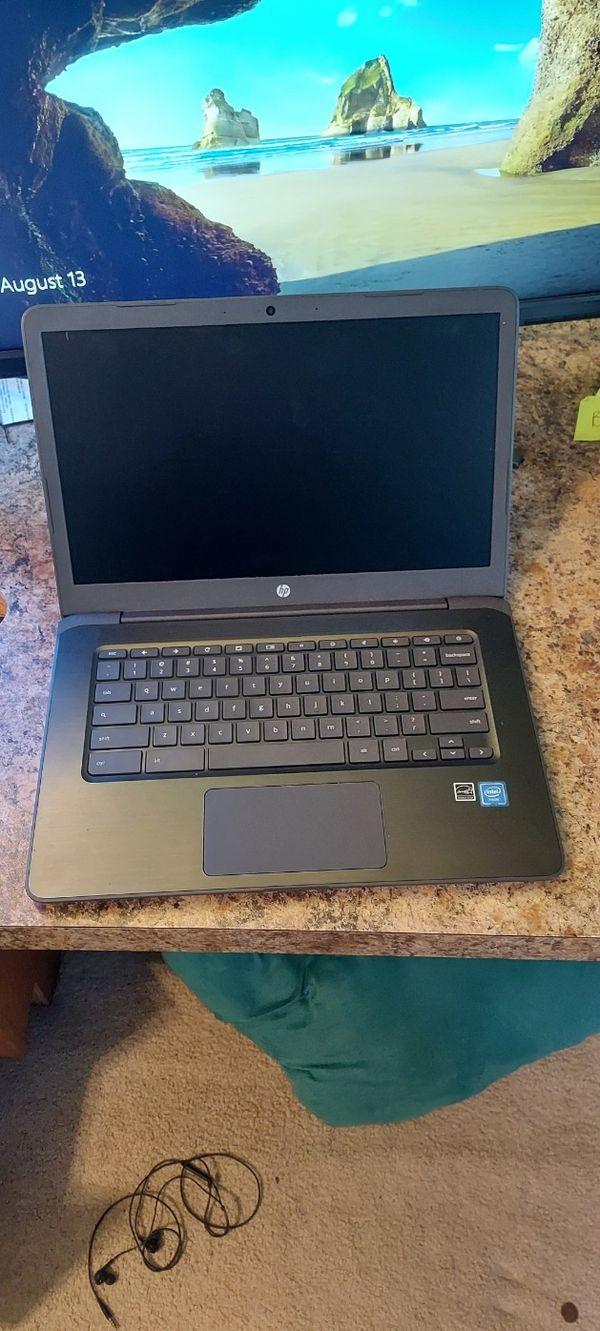 "HP Chromebook 14 G5 14"" Chromebook - 1366 x 768 - Celeron N3350 - 4 GB RAM - 32 GB Flash Memory"