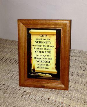 Framed Serenity Prayer for Sale in Detroit, MI
