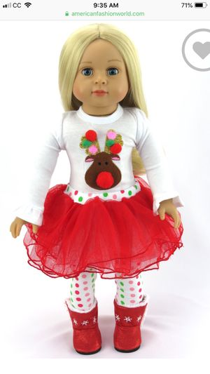 """Christmas dress for 18"""" doll /American Girl size doll for Sale in Dublin, CA"""
