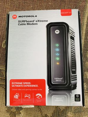 Motorola Surfboard extreme cable modem for Comcast Xfinity for Sale in Mechanicsburg, PA