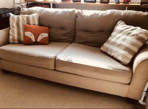 Laryn Queen Sleeper Sofa with 2 pillows included for Sale in Alexandria, VA