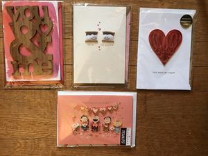 Lot of four 3D handmade Valentines cards (D) for Sale in Hyattsville, MD