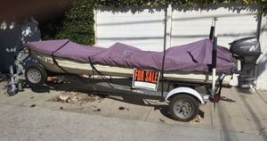 Mirrocraft Aluminum runabout fishing boat with trailer for Sale in Long Beach, CA