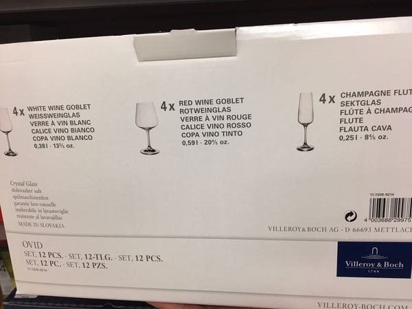 Villeroy boch wine glasses collection
