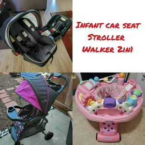Infant car seat, stroller and walker 2in1. Special price. for Sale in Lawndale, CA