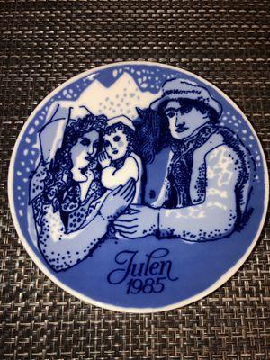 1985 Julen Porsgrund Christmas Christmas Plate - Country Christmas for Sale in Lancaster, CA