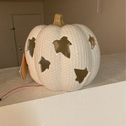Decorative Fall Pumpkin - Lights Up for Sale in Bakersfield,  CA