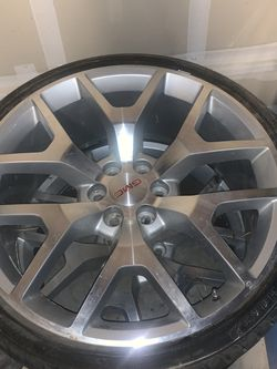 Gmc 24 Snowflake Rims Two Only READ 2ONLY for Sale in Dinuba,  CA